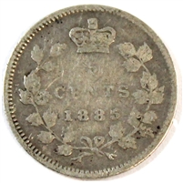 1885 Large 5 Canada 5 Cents G-VG (G-6)