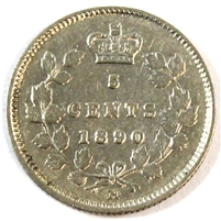 1890H Canada 5 Cents Extra Fine (EF-40) $