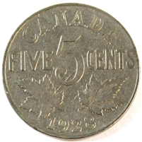 1928 Canada 5 Cents G-VG (G-6)