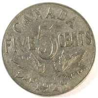 1929 Canada 5 Cents G-VG (G-6)