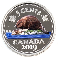 2019 Canada 5 Cents Coloured Silver Proof