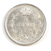 1872H Canada 5 Cents Brilliant Uncirculated (MS-63)