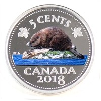 2018 Canada 5 Cents Coloured Silver Proof