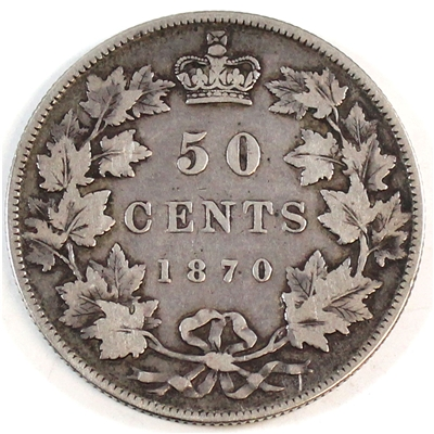 1870 LCW Canada 50-cents F-VF (F-15)
