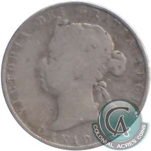 1870 LCW Canada 50-cents G-VG (G-6) $