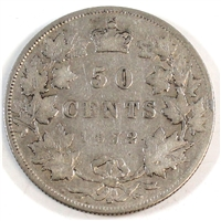 1872H Canada 50-cents Fine (F-12)
