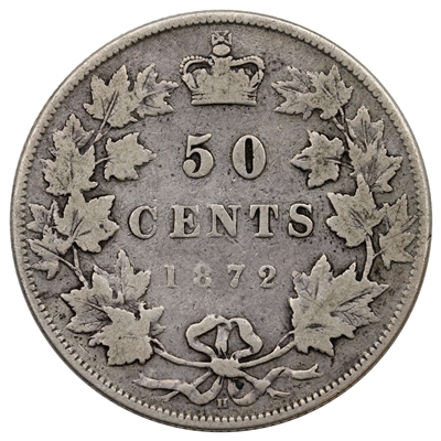 1872H Canada 50-cents Very Good (VG-8) $