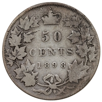 1898 Canada 50-cents G-VG (G-6)