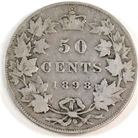 1898 Canada 50-cents Very Good (VG-8)