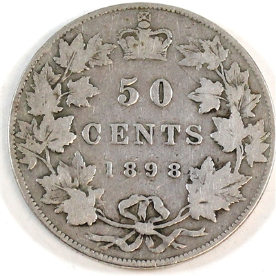 1898 Canada 50-cents Very Good (VG-8) $