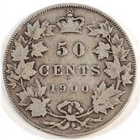 1900 Canada 50-cents VG-F (VG-10)