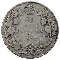 1902 Canada 50-cents Very Good (VG-8)