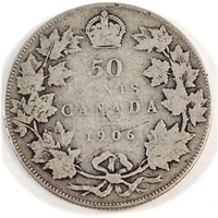 1906 Canada 50-cents G-VG (G-6)