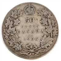 1906 Canada 50-cents Very Good (VG-8)