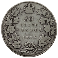 1906 Canada 50-cents VG-F (VG-10)