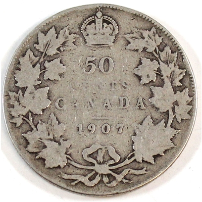 1907 Canada 50-cents G-VG (G-6)