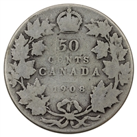1908 Canada 50-cents Good (G-4)
