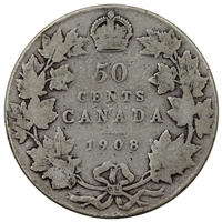 1908 Canada 50-cents G-VG (G-6)
