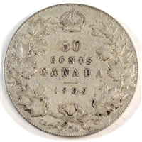 1909 Canada 50-cents F-VF (F-15)