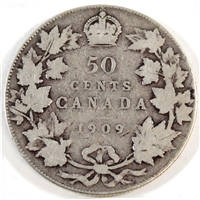 1909 Canada 50-cents G-VG (G-6)