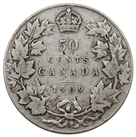 1909 Canada 50-cents VG-F (VG-10)