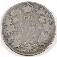 1910 Edwardian Leaves Canada 50-cents Good (G-4)