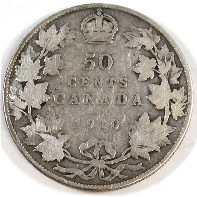 1910 Edwardian Leaves Canada 50-cents G-VG (G-6)