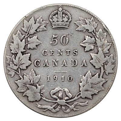 1910 Victorian Leaves Canada 50-cents Fine (F-12) $