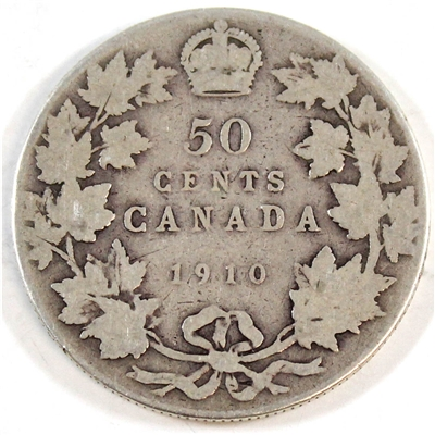 1910 Victorian Leaves Canada 50-cents Good (G-4)