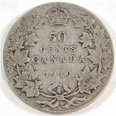 1910 Victorian Leaves Canada 50-cents G-VG (G-6)