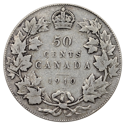 1910 Victorian Leaves Canada 50-cents VG-F (VG-10) $
