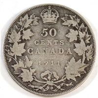 1911 Canada 50-cents Good (G-4)