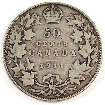 1911 Canada 50-cents G-VG (G-6)
