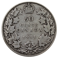 1911 Canada 50-cents Very Good (VG-8)