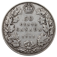 1911 Canada 50-cents VG-F (VG-10) $