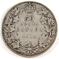 1912 Canada 50-cents G-VG (G-6)