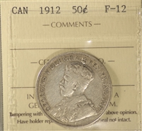1912 Canada 50-cents ICCS Certified F-15 (XSS 461)