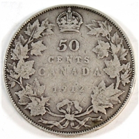 1912 Canada 50-cents Very Good (VG-8)