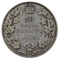 1913 Canada 50-cents Very Good (VG-8)