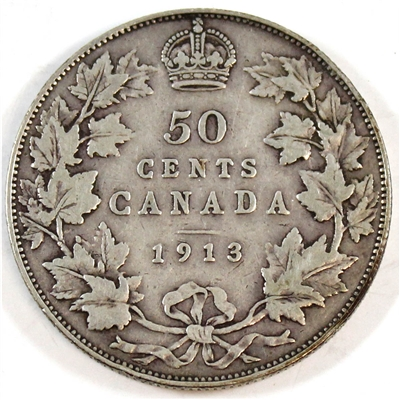 1913 Canada 50-cents VG-F (VG-10)
