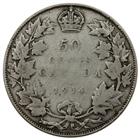 1914 Canada 50-cents G-VG (G-6)