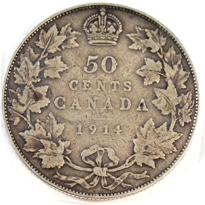 1914 Canada 50-cents Very Good (VG-8)