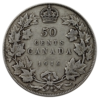 1916 Canada 50-cents VG-F (VG-10)