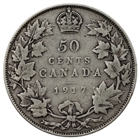 1917 Canada 50-cents Very Good (VG-8)
