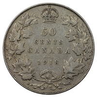 1918 Canada 50-cents VG-F (VG-10)