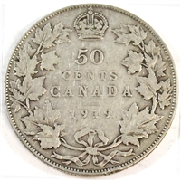 1919 Canada 50-cents VG-F (VG-10)