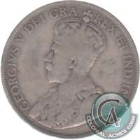 1920 Large 0 Canada 50-cents VG-F (VG-10) $