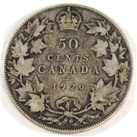 1920 Small 0 Canada 50-cents Good (G-4)