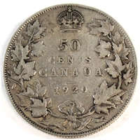 1920 Small 0 Canada 50-cents G-VG (G-6)