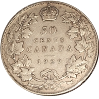 1929 Canada 50-cents F-VF (F-15)